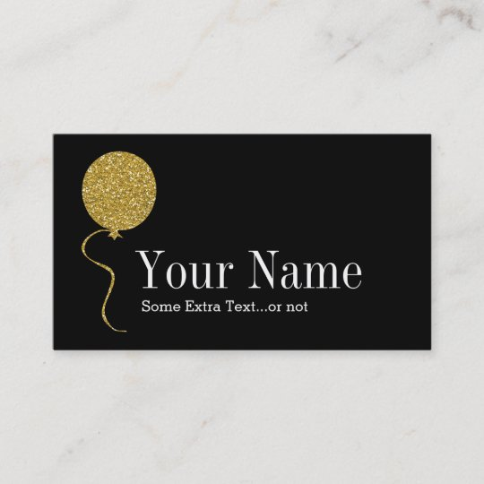 Gold glitter balloon event party planner black business card gold glitter balloon event party planner black business card colourmoves