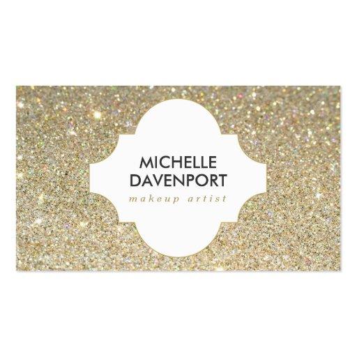 GOLD GLITTER BEAUTY, MAKEUP ARTIST, SALON Double-sided Standard Business Cards (pack Of 100)