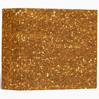 Gold Glitter Binder