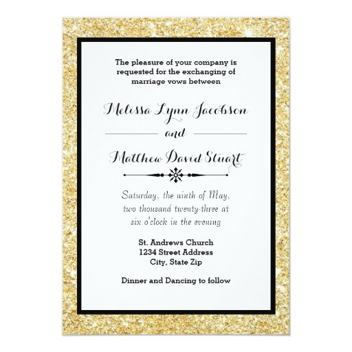 Black And Gold Wedding Invitations is awesome invitation template
