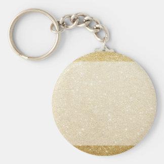 gold glitter blank template for customization basic round button keychain
