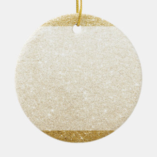 gold glitter blank template for customization ceramic ornament