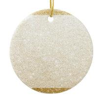gold glitter blank template for customization ceramic ornament