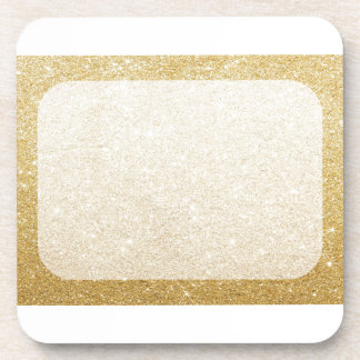 gold glitter blank template for customization drink coaster