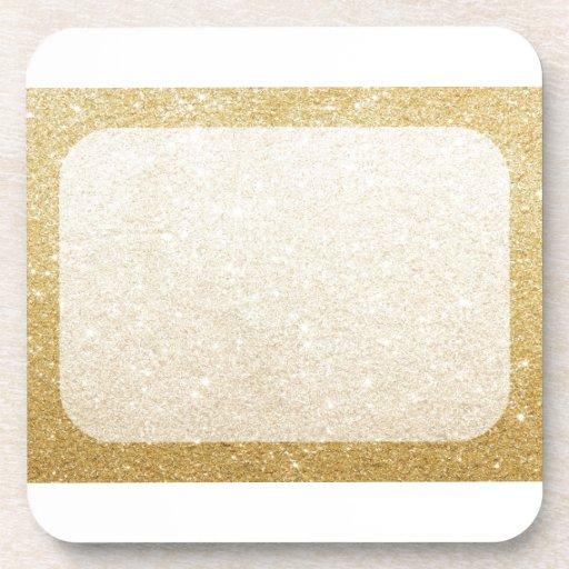 Gold Glitter Blank Template For Customization Drink