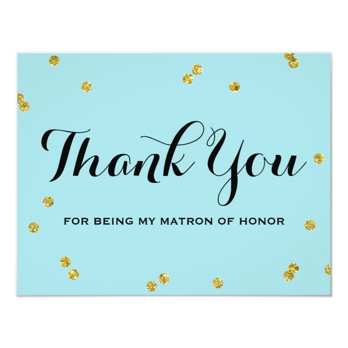 Matron Honor Thank You Cards