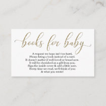 Gold Glitter Book Request - Baby Shower Invitation
