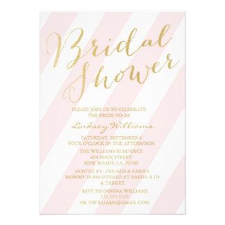 Gold Glitter Bridal Shower Invitations