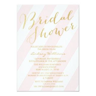 "Gold Glitter Bridal Shower Invitations 5"" X 7"" Invitation Card"