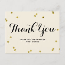 Gold Glitter | Bridal Shower Thank You Cards
