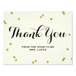 thank you cards for bridal showers