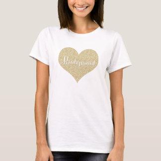 Gold Glitter Bridesmaid Shirt