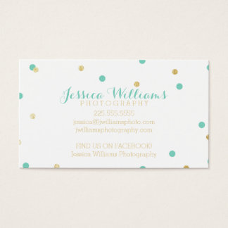 Gold Glitter Business Cards