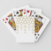 gold glitter cascading jewish star pattern playing cards