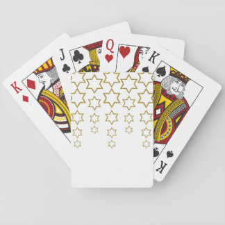 gold glitter cascading jewish star pattern playing cards