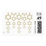 gold glitter cascading jewish star pattern stamp