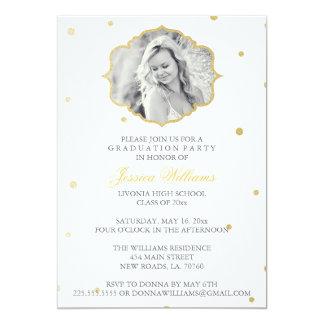 Gold Glitter Chevron Graduation | Grey Card