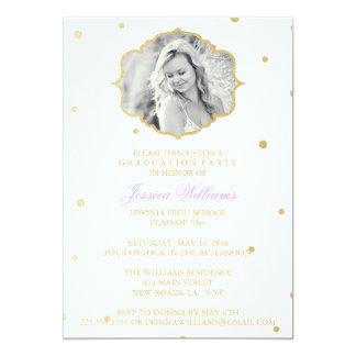 Gold Glitter Chevron Graduation | Purple Card
