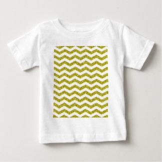 Gold Glitter Chevron Print Baby T-Shirt