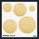 """Gold Glitter Circles Dots Spots Room Wall Decals<br><div class=""""desc"""">NOTE - THIS IS A FABRIC DECAL THAT IS AN IMAGE OF GLITTER... IT WILL NOT BE ACTUAL STUCK ON GLITTER (THOUGH YOU COULD EASILY ADD GLITTER YOURSELF FOR EXTRA SPARKLY EFFECT) Use these unique, one of a kind, designer wall decals (exclusive to ZAZZLE ONLY) anywhere you like... have them...</div>"""