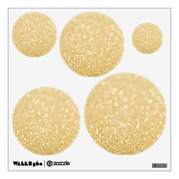 Gold Circles Wall Decor : Gold glitter circles dots spots room wall decals zazzle