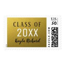 Gold Glitter Class Of Graduation Postage