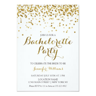 Glitter Bachelorette Party Invitations & Announcements | Zazzle