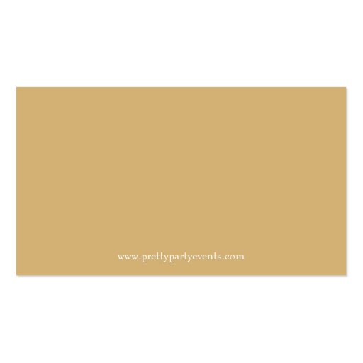 Gold Glitter Confetti Business Card Templates (back side)