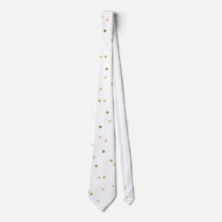 Gold Glitter Confetti Dot Polka Nail Pattern Tie