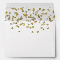 Gold Glitter Confetti Envelope