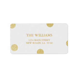 Gold Glitter Confetti Mailing Labels