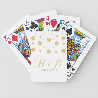 Gold Glitter Confetti Playing Cards