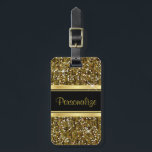 """Gold Glitter Confetti Print Bag Tag<br><div class=""""desc"""">Luggage Tag - Featuring elegant Gold Glitter Confetti Print. 100% Customizable. Ready to fill in the box(es) or Click on the CUSTOMIZE IT button to change, move, delete, resize any of the graphics or add your own text, font and font color. (Note: This is a print, Not real glitter) Made...</div>"""