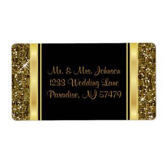 Gold Glitter Confetti Print Label