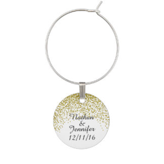 Gold Glitter Confetti Wedding Favors