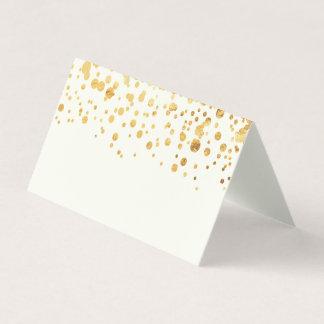 Gold Glitter Confetti Wedding Place Card