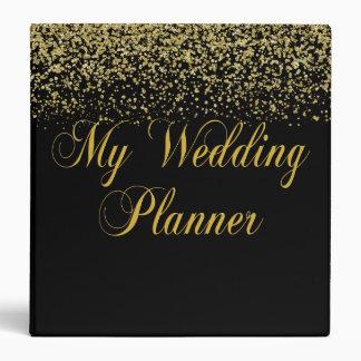 Gold Glitter Confetti Wedding Planner Binder