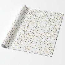 Gold Glitter Confetti Wrapping Paper