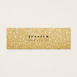 Gold Glitter Contemporary Hair Stylist Skinny Card