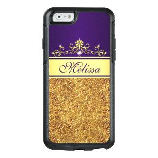 Gold Glitter Cool Purple OtterBox iPhone 6/6s Case
