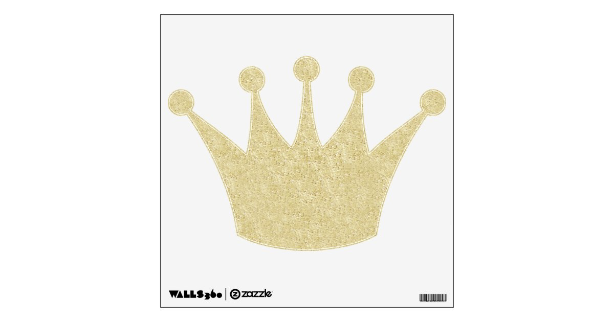 Black Crown Wall Decor : Gold glitter crown wall decal zazzle