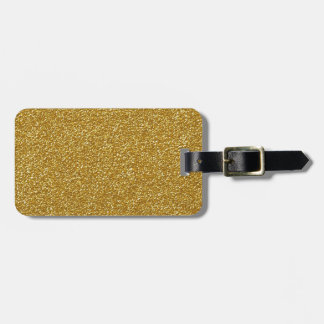 Gold Glitter Design Luggage Tag