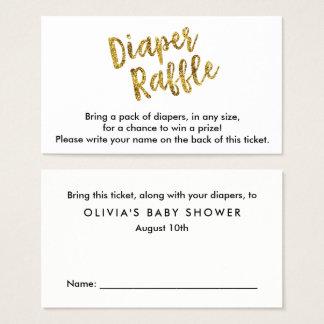 Gold Glitter Diaper Raffle Ticket