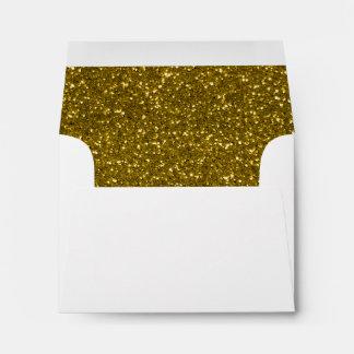 Gold Glitter Envelopes