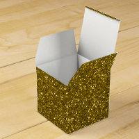 Gold Glitter Favor Box