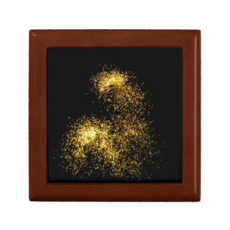 Gold Glitter Fireworks Abstract Photo Gift Box