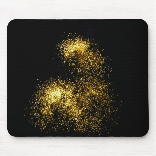 Gold Glitter Fireworks Abstract Photography Mousep Mousepads
