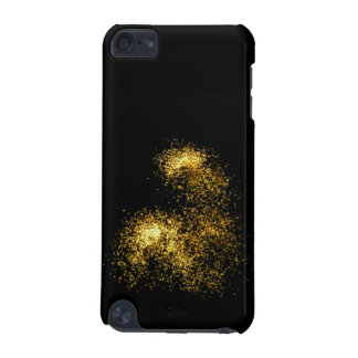 Gold Glitter Fireworks Photo iPod Touch case