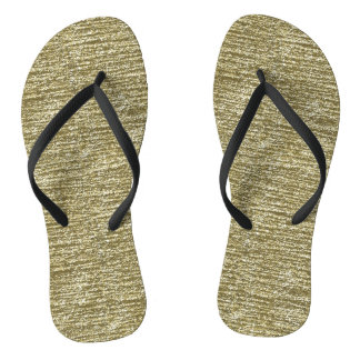 Gold Glitter Flip Flops