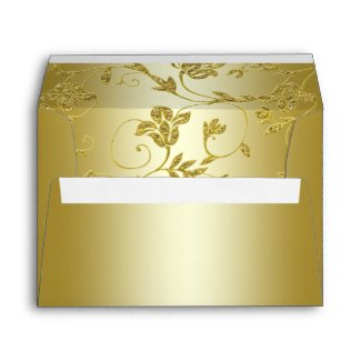 Gold Glitter Floral Envelope for 5x7 Size Products envelope
